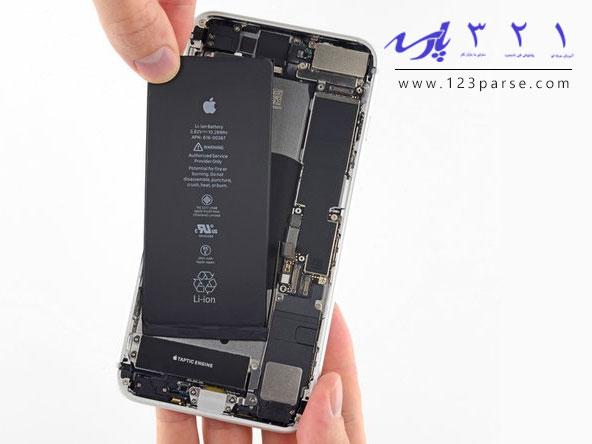 آموزش تعویض باتری گوشی آیفون ۸ پلاس